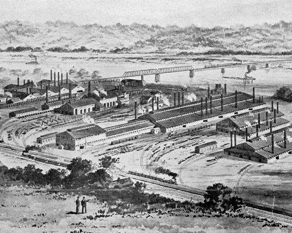 Homestead Works 1886