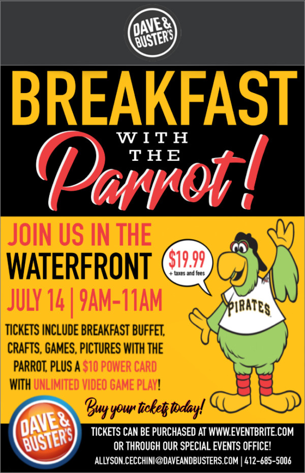 Breakfast with Pirate Parrot