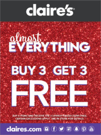 It's Our Almost Everything Buy 3 Get 3 For Free Sale