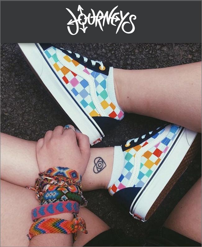 Vans Old Skool Rainbow Chex Skate Shoes