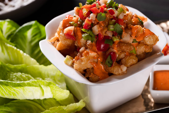 New Menu Item — Dynamite Shrimp Lettuce Wraps