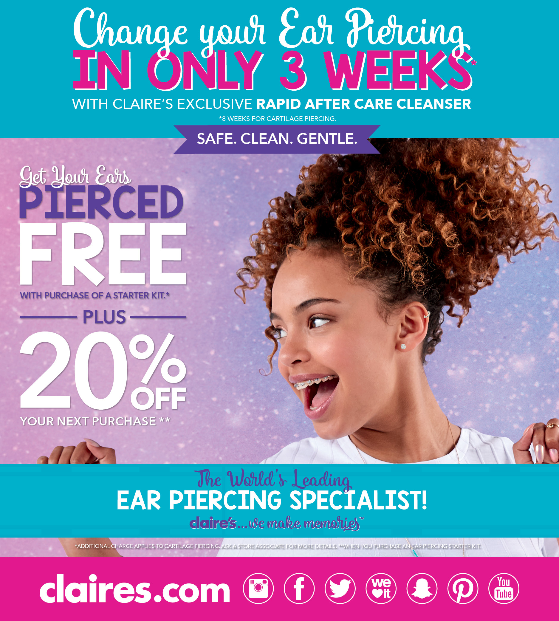 Save 20% When You Get an Ear Piercing