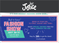 Justice's Back to School Fashion Show