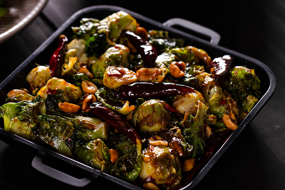 New Menu Item — Kung Pao Brussels Sprouts