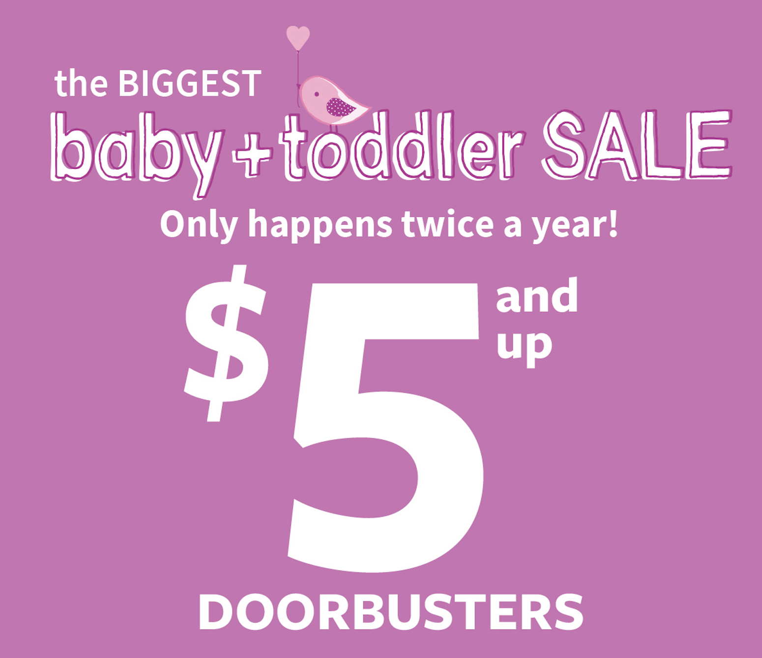 Carter's $5 and Up Baby Doorbusters