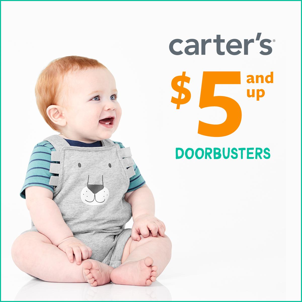 Carter's $5 and Up Doorbusters