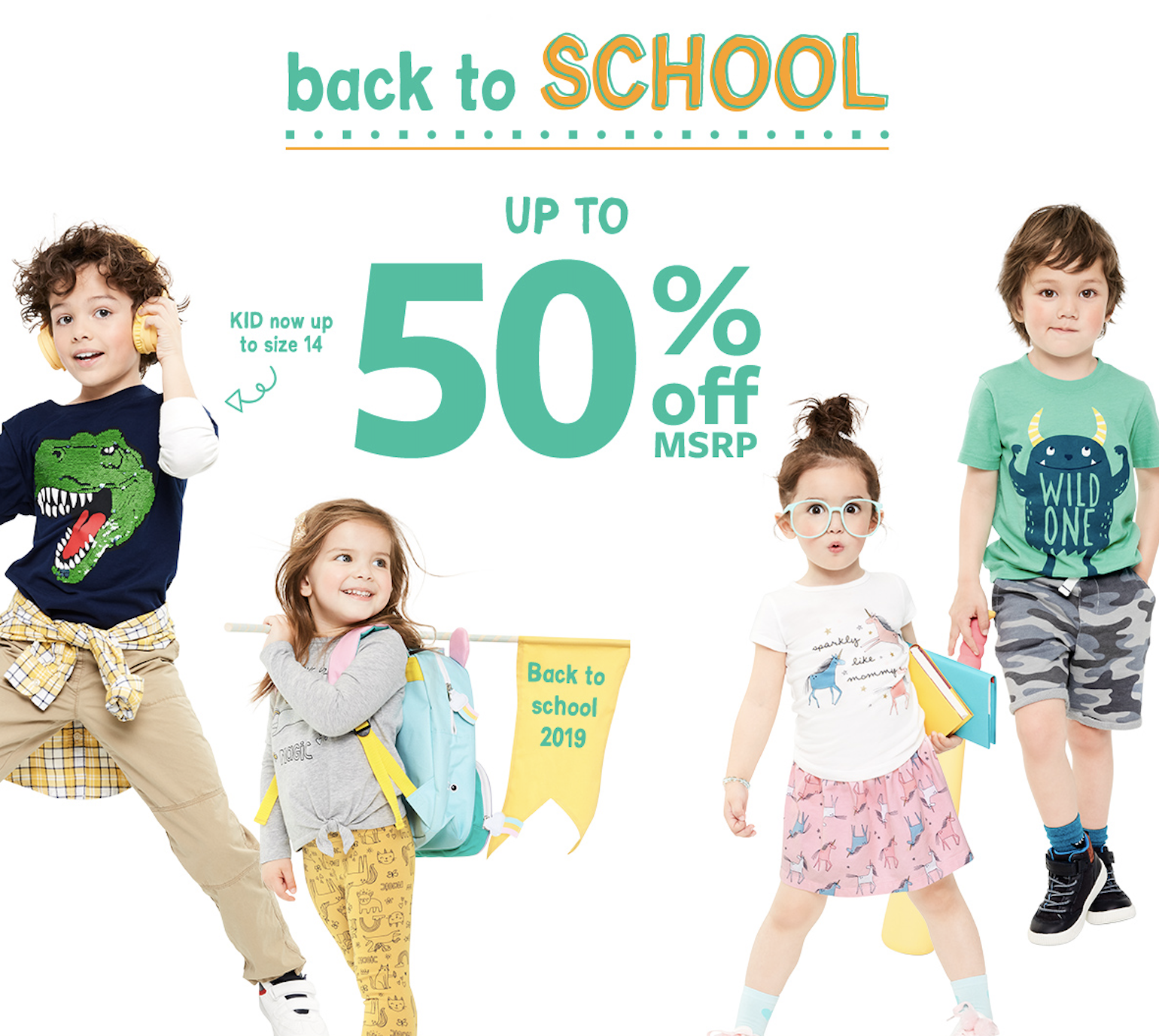 Carter's Class of Characters — Up to 50% Off