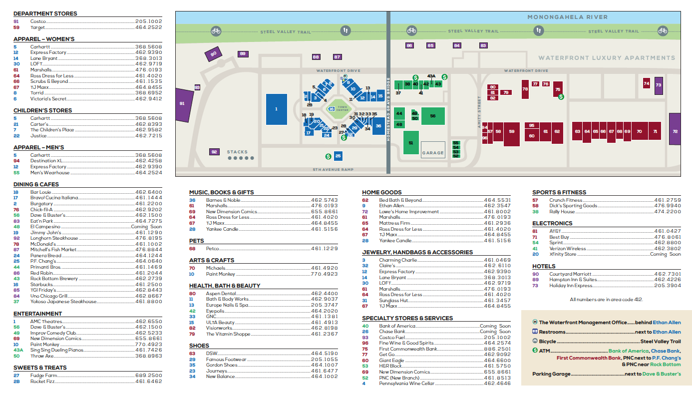 Garden State Mall Directory Map Join Our Email List For The Latest News From The Gardens Mall