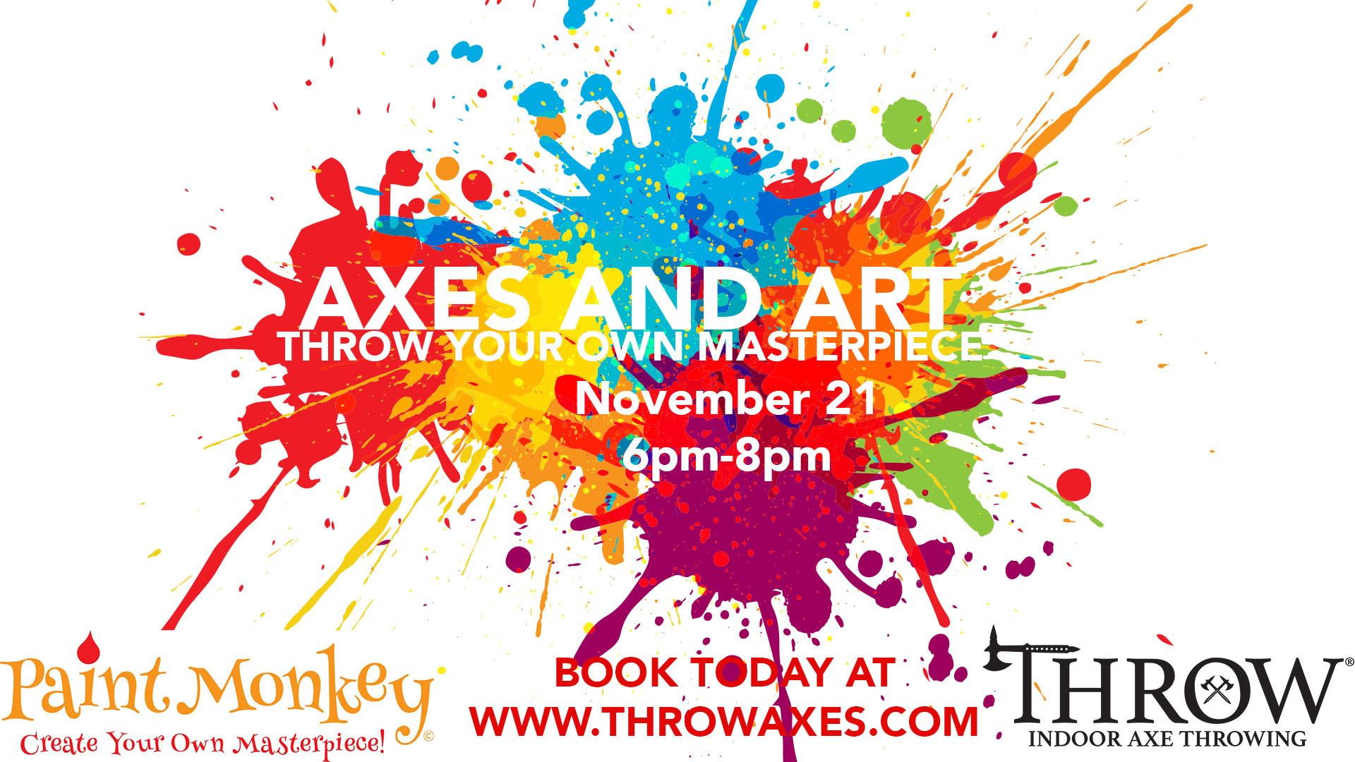 Axes and Art — A Friendsgiving Event