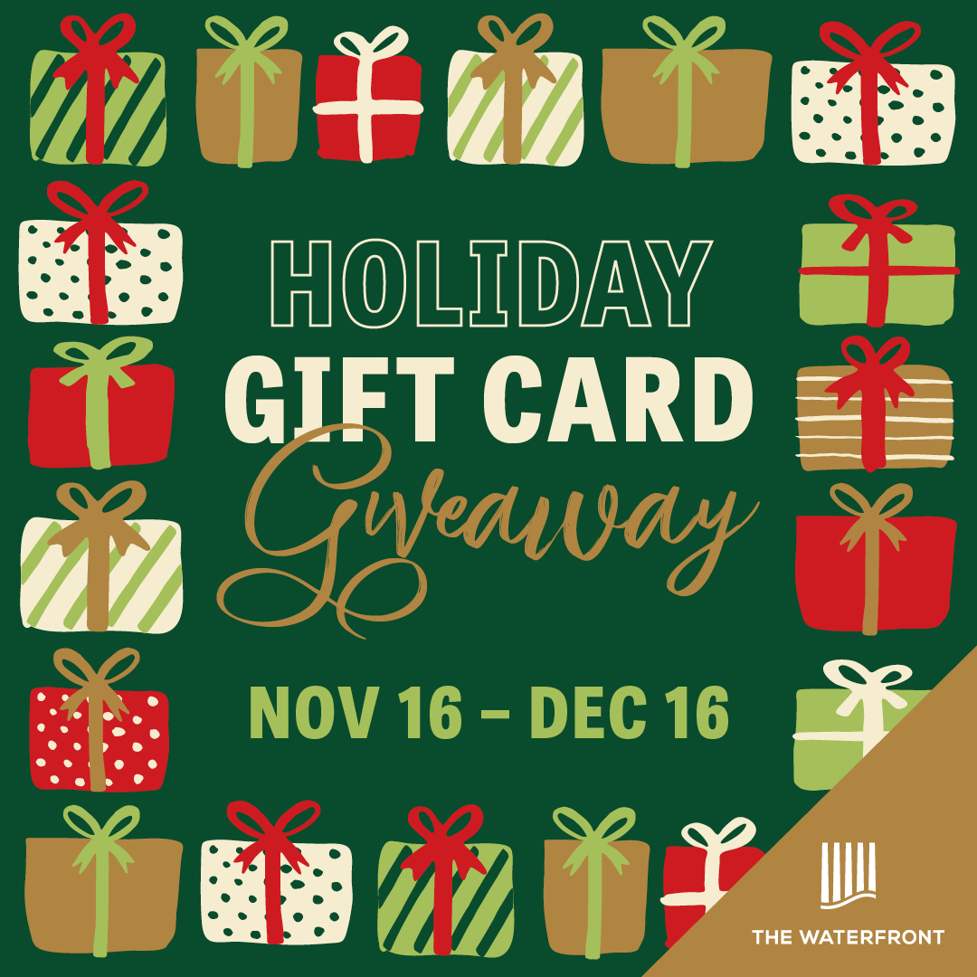 It's the Waterfront Instagram Holiday Gift Card Giveaway!