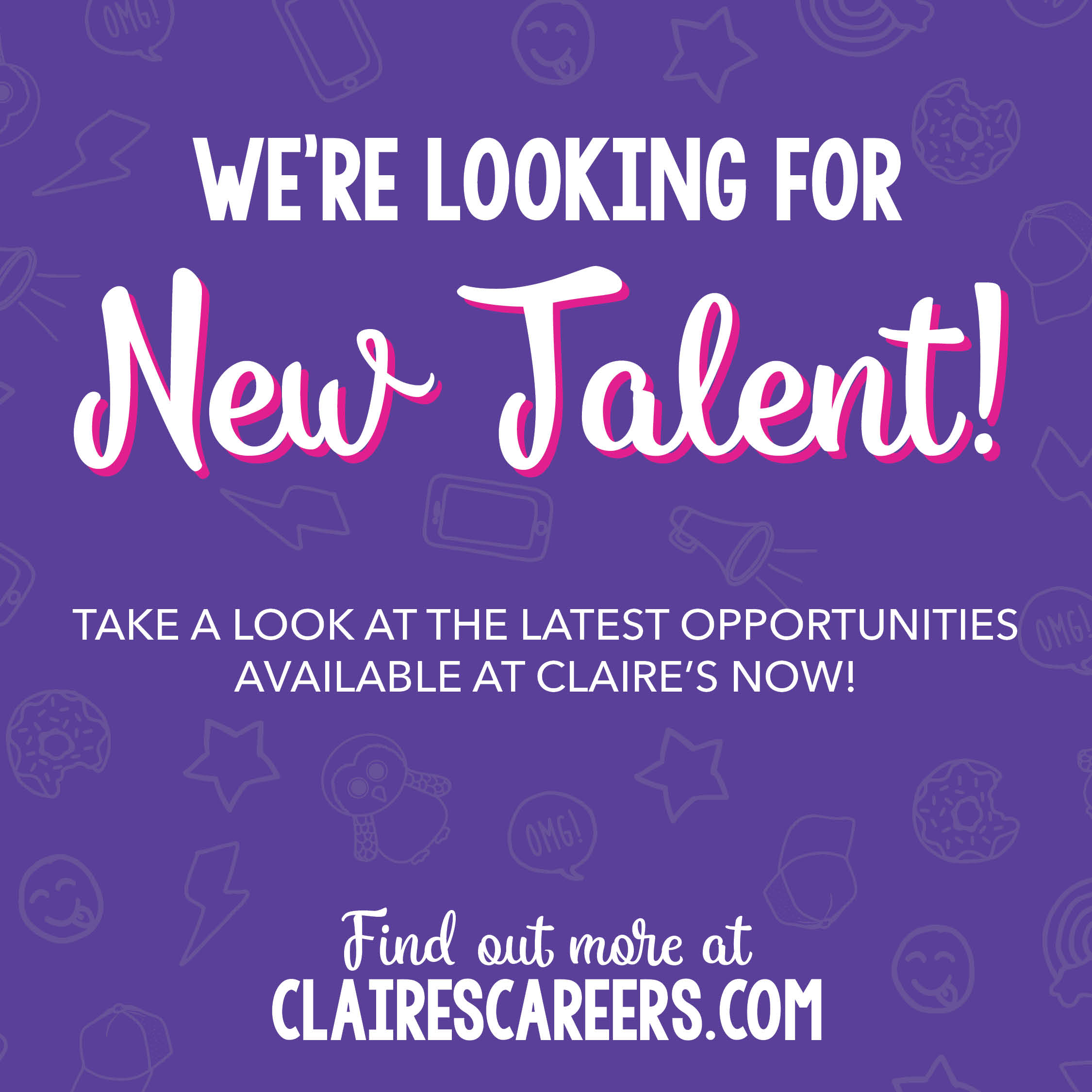 Claire's Hiring